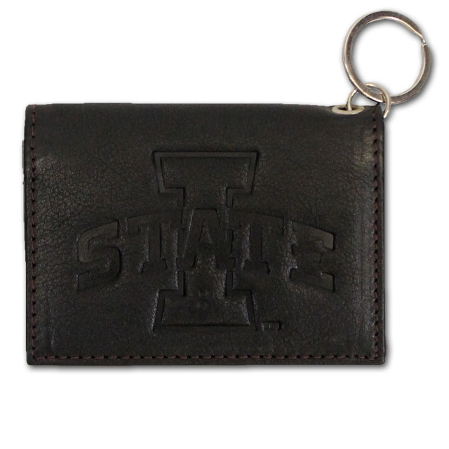 Image For I-State Leather ID Holder (Black/Cardinal)