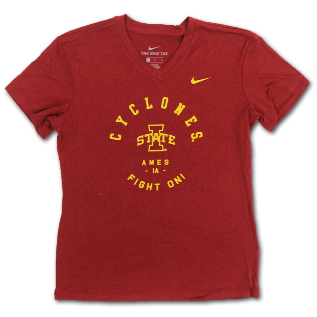 Image For Nike® Youth Girl's I-State V-Neck Tee (Cardinal) *WAS $26.99