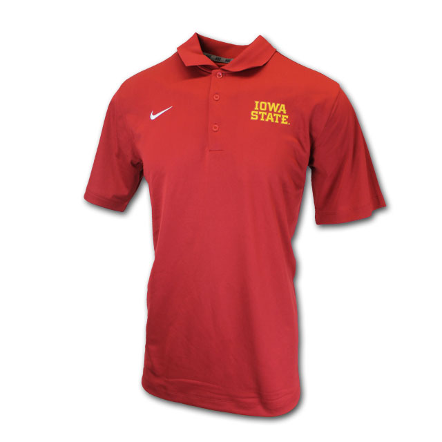Image For Nike® Cardinal Iowa State Dri-Fit Polo