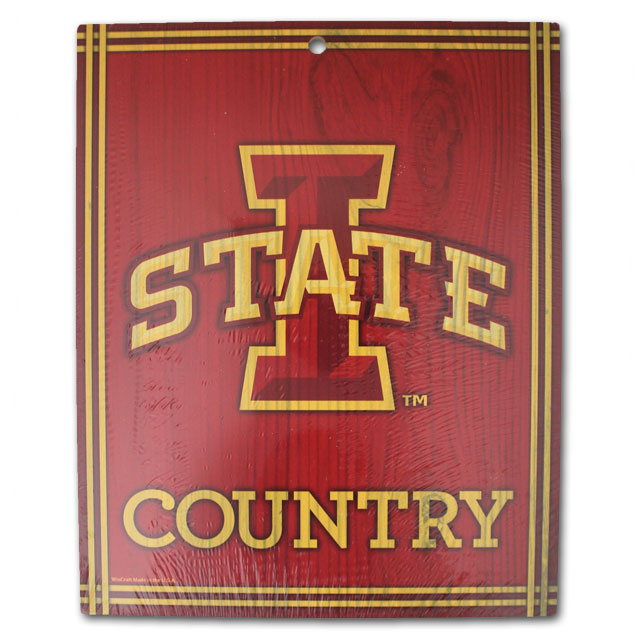 Image For I-State Country Wood Sign