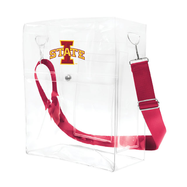 Image For I-State Clear Ticket Satchel Stadium Bag (Cardinal)