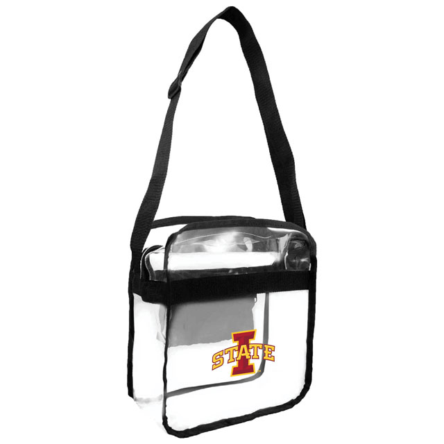 Image For I-State Clear Stadium Zipper Crossbody Bag (Black)