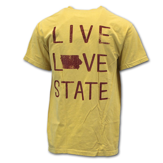 Image For Comfort Colors® Live Love State Short Sleeve (Gold)