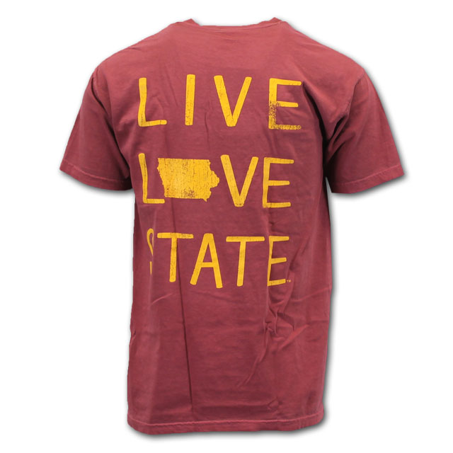 Image For Comfort Colors® Live Love State Short Sleeve (Cardinal)