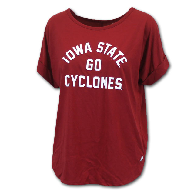 Image For League Women's Iowa State Cyclones Cuffed Short Sleeve