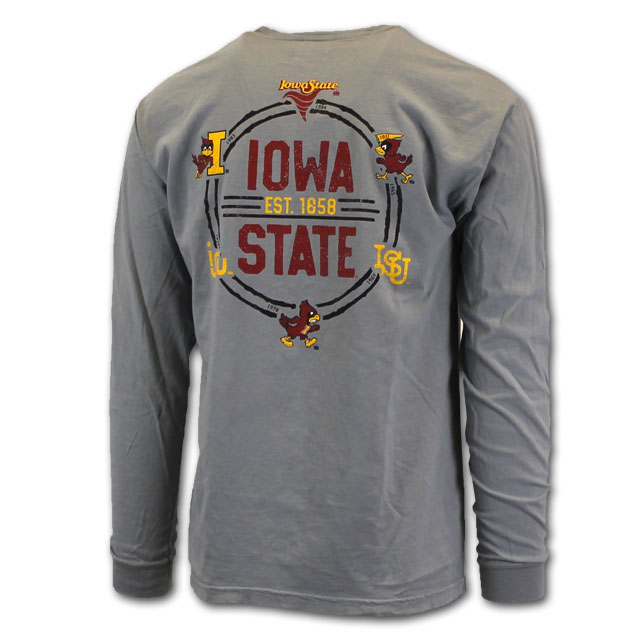 Image For Iowa State Gray Long Sleeve EVOLUTION T-Shirt