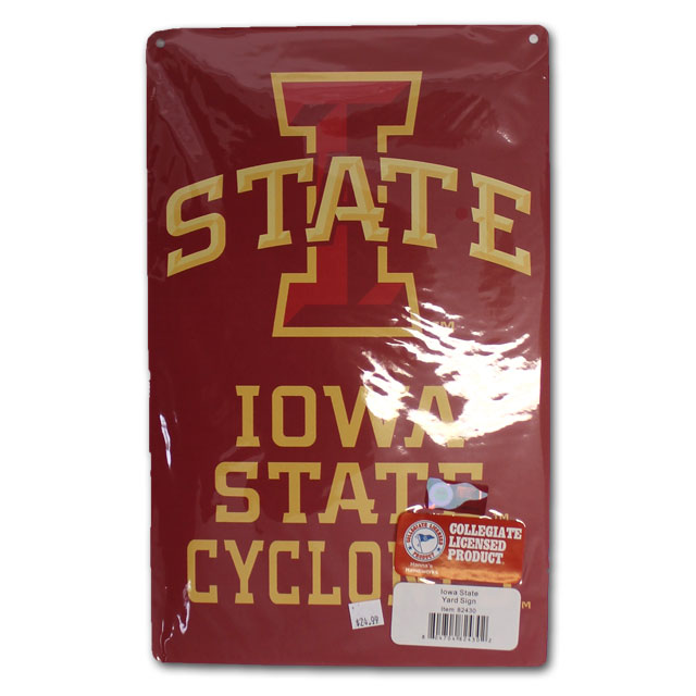 Image For Iowa State Cyclones Metal Yard Sign