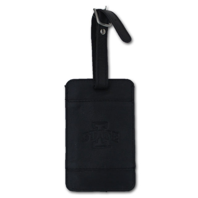 Image For I-State Leather Luggage Tag (Black)