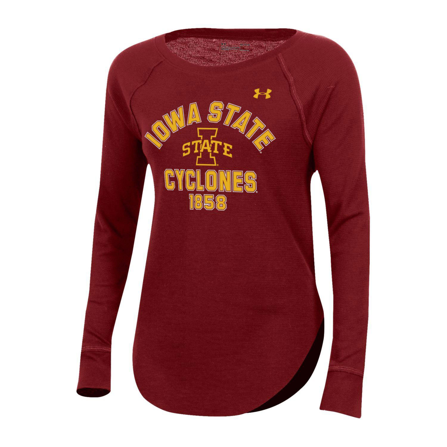 Image For UA® Women's Iowa State Cyclones Waffle Long Sleeve