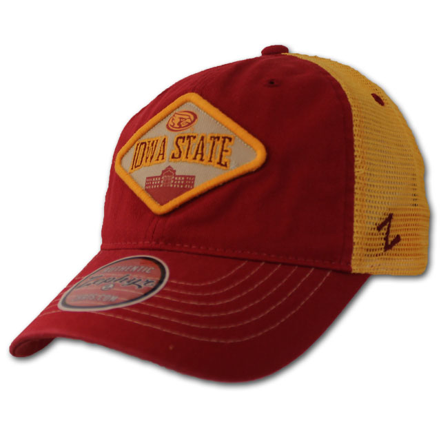 Image For Iowa State Diamond Patch Mesh Back Cap