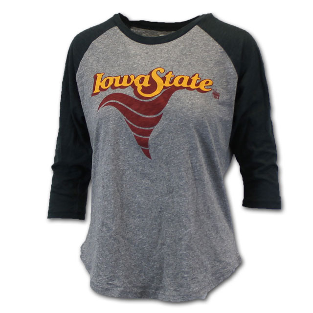 Image For Women's Vintage Iowa State Baseball Tee* <i> WAS $39.50<i>