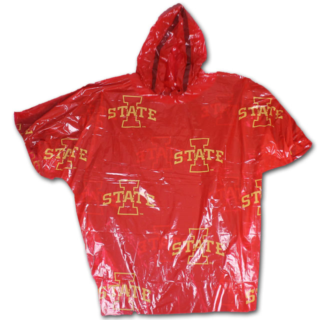 Image For Cardinal and Gold Adult I-State Poncho