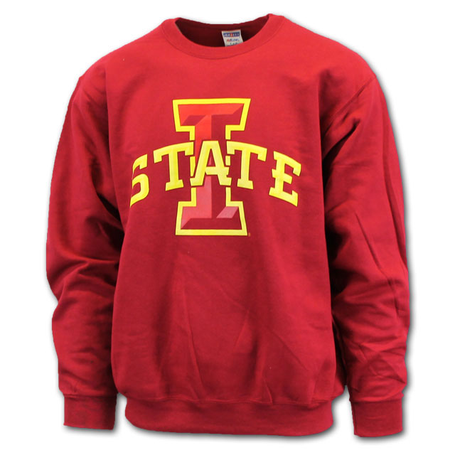 Image For Cy's Deals I-State Crew Neck Sweatshirt (Cardinal)