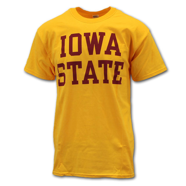 Image For Cy's Deals Iowa State Short Sleeve T-Shirt (Gold)