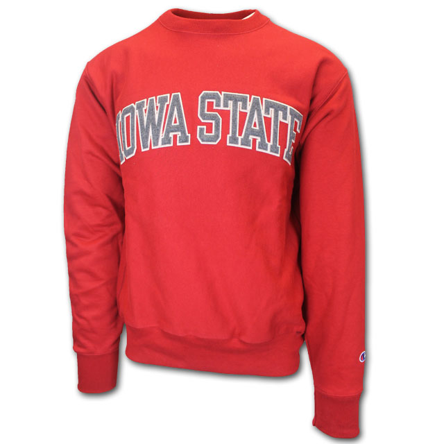 Image For Champion® Iowa State Reverse Weave Crew Neck (Cardinal)