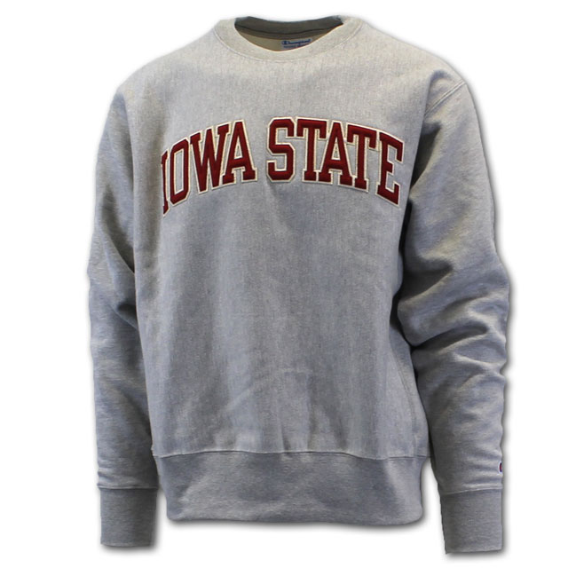 Image For Champion® Iowa State Reverse Weave Crew Neck (Oxford)