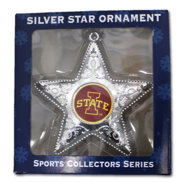 Image For I-State Silver Star Ornament* <i>WAS $5.00</i>