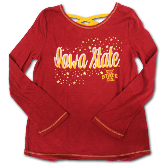 Image For Colosseum® Youth Girl's Iowa State Long Sleeve