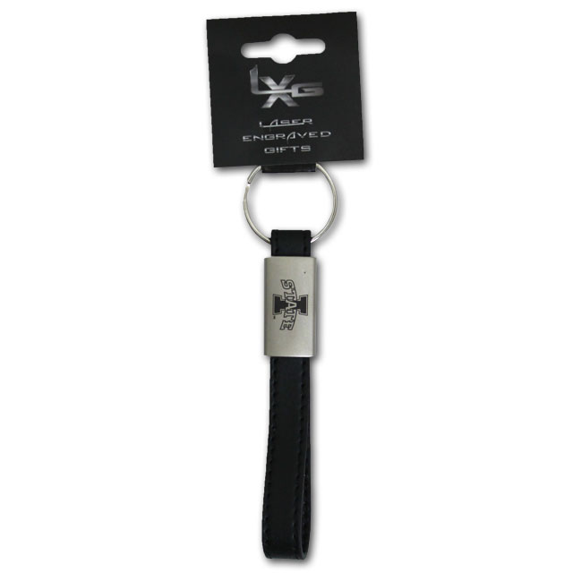 Image For I-State Black Leather Keystrap