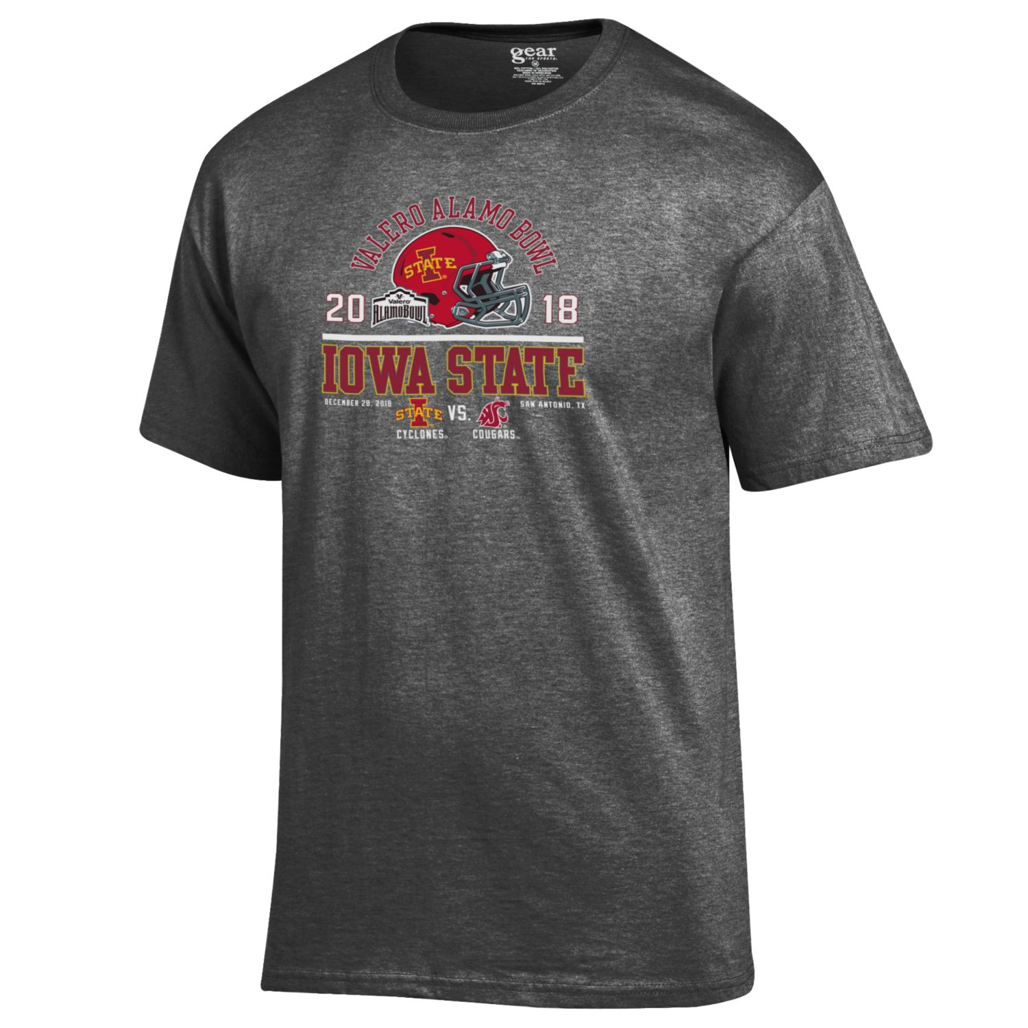 Image For Alamo Bowl Matchup Charcoal T-Shirt*<i>WAS $22.00</i>