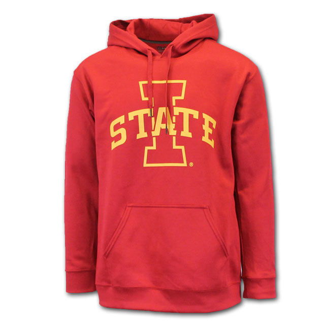 Image For I-State Polyester Hooded Sweatshirt (Cardinal)