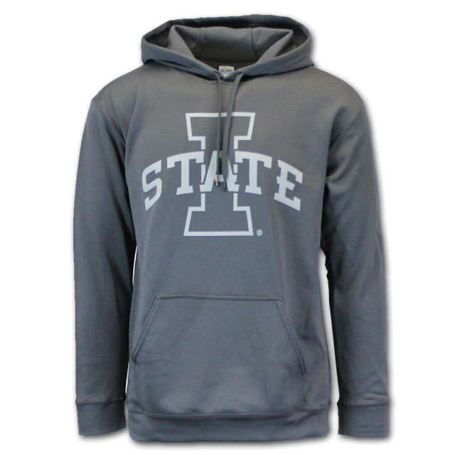 Image For I-State Polyester Hooded Sweatshirt (Charcoal)