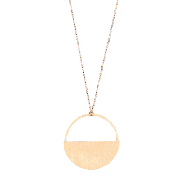 Image For Gold Half Circle Necklace