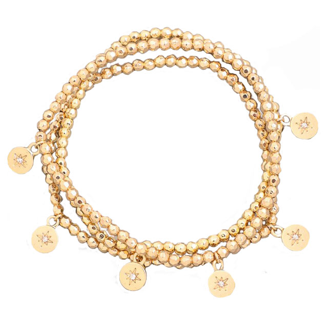 Image For Gold Coin Star Bracelet