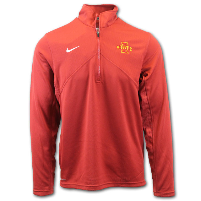 Image For Nike® 1/4 Zip I-State Pullover (Cardinal)