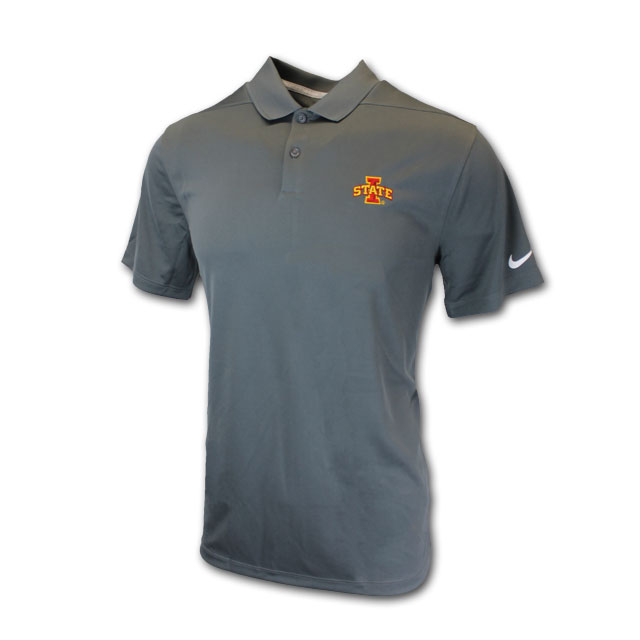 Image For Nike® Dark Gray I-State Golf Polo