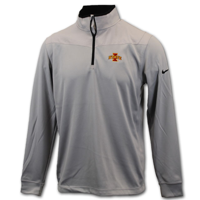 Image For Nike® Gray I-State Golf 1/4 Zip