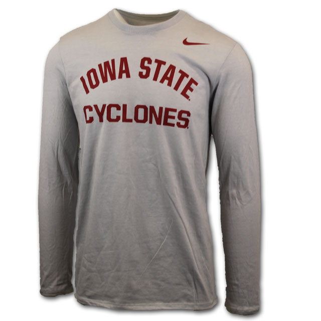 Image For Nike® Gray Iowa State Cyclones Long Sleeve