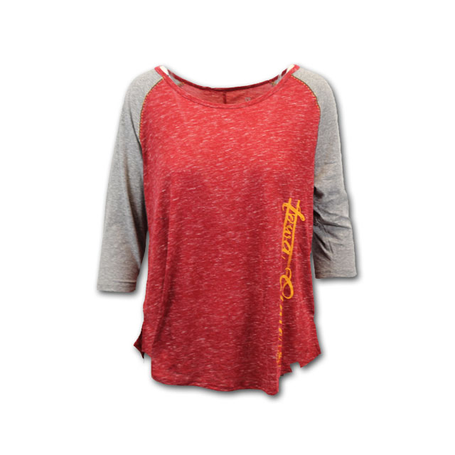 Image For Colosseum® 3/4 Sleeve Iowa State Shirt