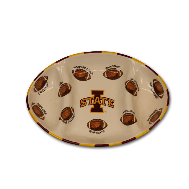 Image For 18x12 I-State Football Platter