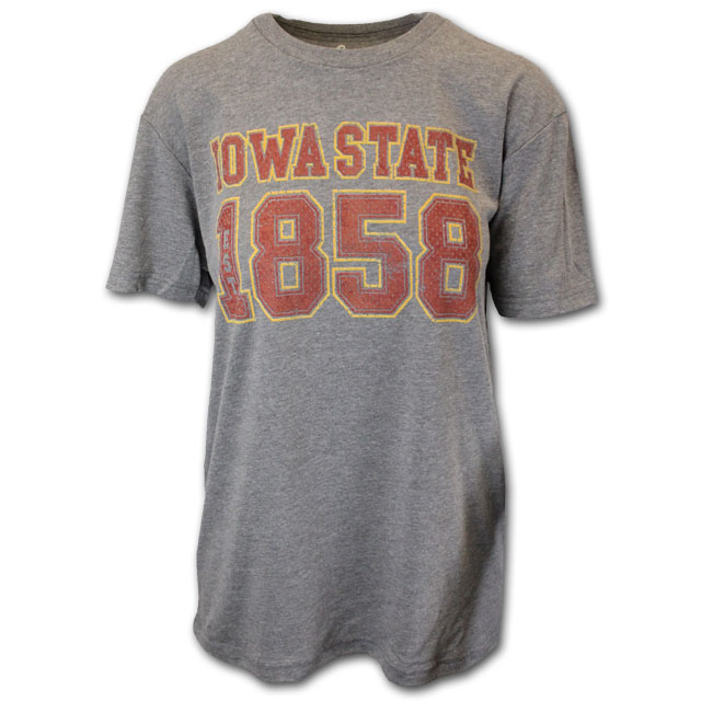 Cover Image For Gray Iowa State 1858 T-Shirt