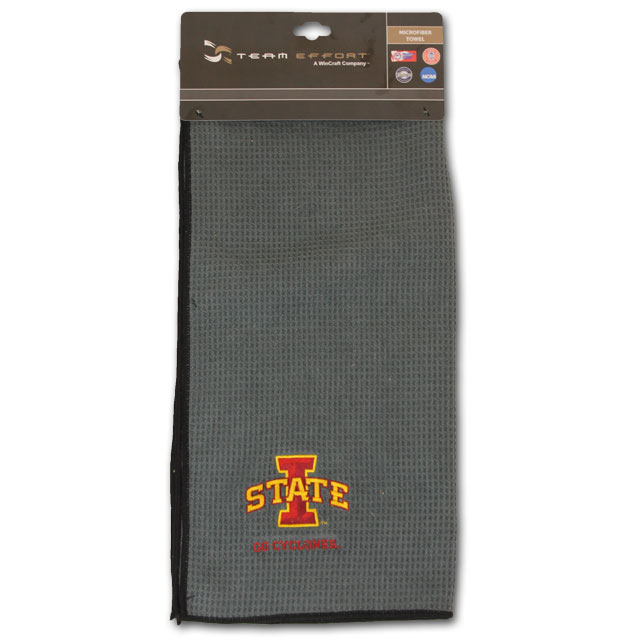 "Image For 19"" X 41"" Grey Microfiber Golf Towel"