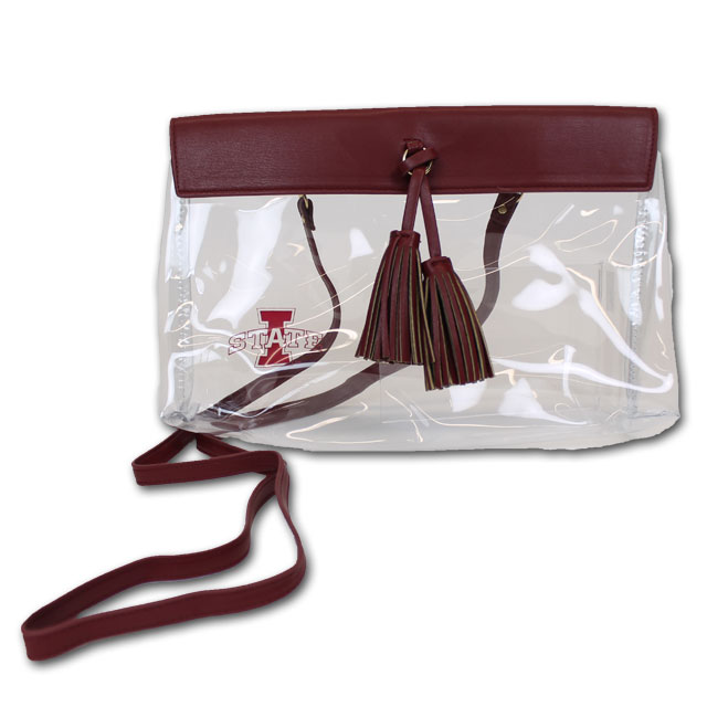 Image For Clear I-State Tassel Purse