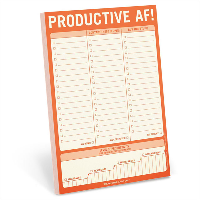 Cover Image For Productive AF! Pad
