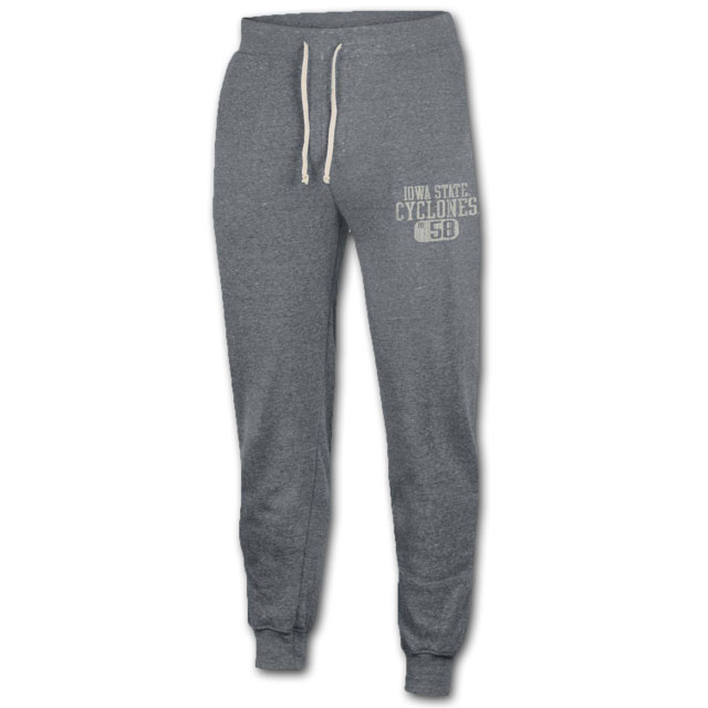 Image For Grey Iowa State Joggers