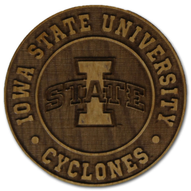 Cover Image For Wood Etched I-State Magnet