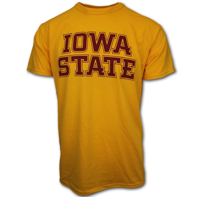 Image For Gold Iowa State Short Sleeve T-Shirt