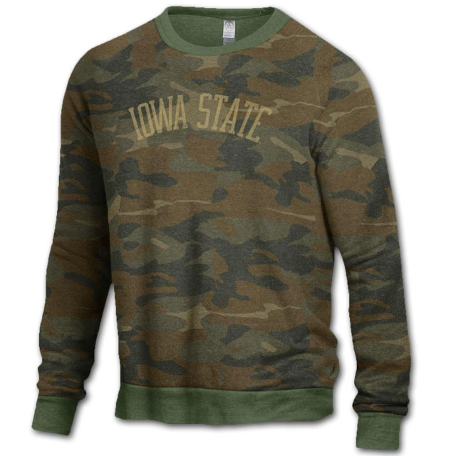 Image For Camo Crewneck Sweatshirt