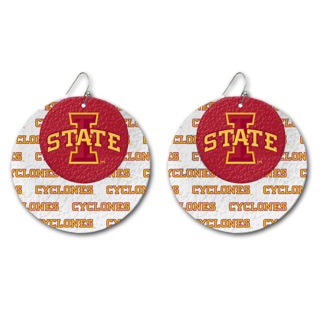 Cover Image For Leather I-State Earrings