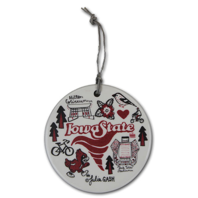 Image For Iowa State Ceramic Ornament
