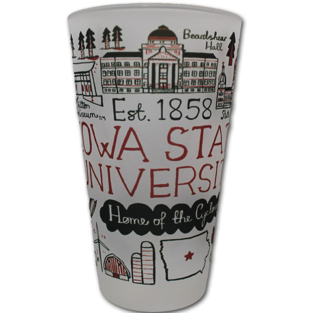Image For Iowa State Frosted Pint Glass