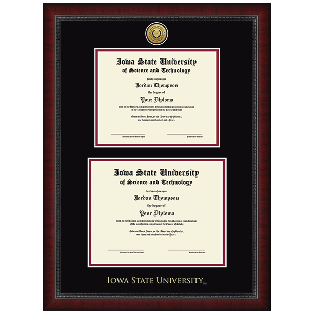 Image For Double Diploma Frame (#14)