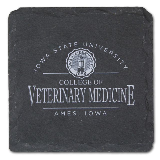 Cover Image For College of Veterinary Medicine Slate Coaster