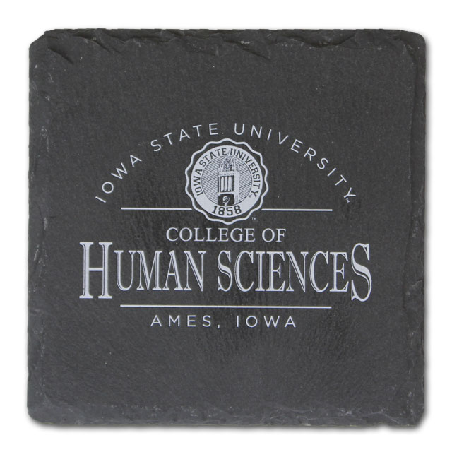Image For College of Human Sciences Slate Coaster