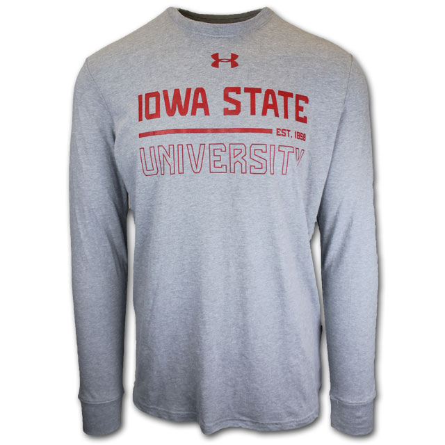 Image For Under Armour® Grey Long-sleeve T-Shirt