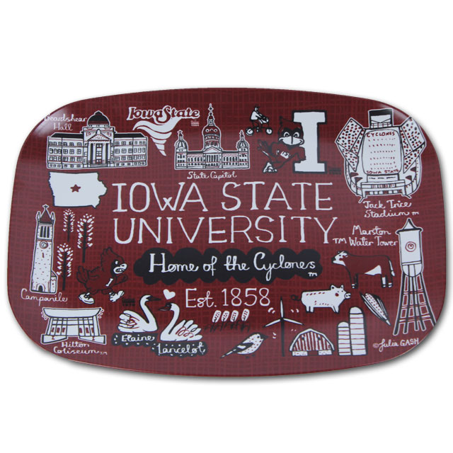 Image For Iowa State Serving Platter